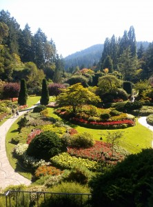 The Sunken gardens at Butchard in Victoria BC