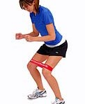 walk sideways with band around your legs above the knee